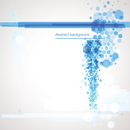 Background with blue abstract elements