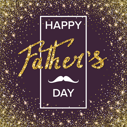 Happy fathers day handwritten lettering