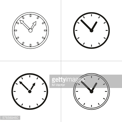 Set of simple clock icon