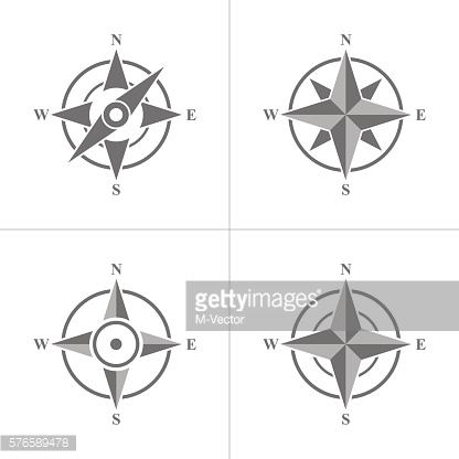 Set of simple compass  icon