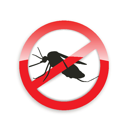 Mosquito icon vector. Flat icon isolated on the white background