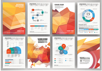 Set of business flyer design, infographic layout