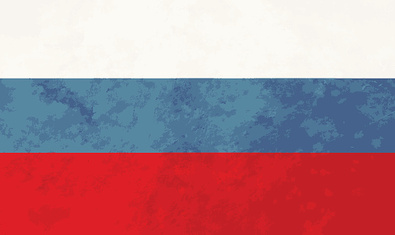 True proportions Russia flag with texture