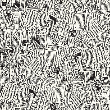Seamless Vector Pattern with Book Pages