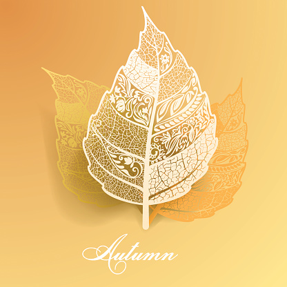 Abstract autumn leaves.