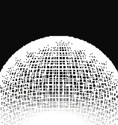 Abstract Sphere Surface Wireframe Polygonal