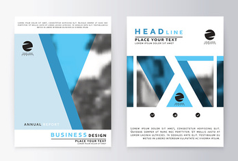 Layout design template, annual report brochure.