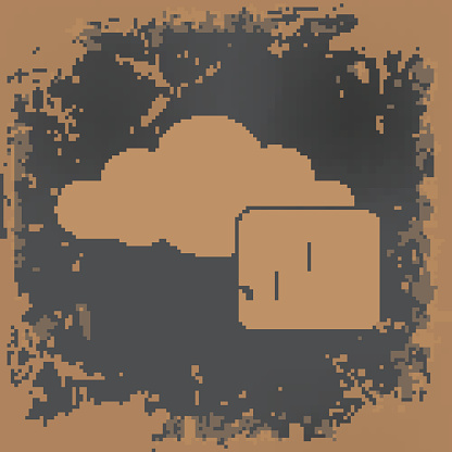 Cloud security design on grunge background,vector