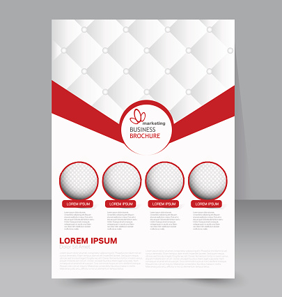 Flyer template. Business brochure. Editable A4 poster for design