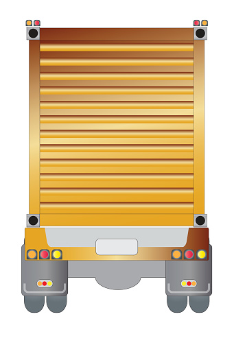 Container Cargo on trailer truck