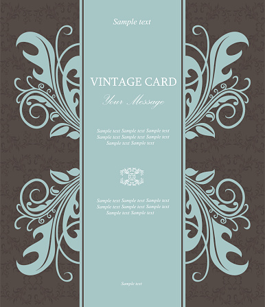 Invitation vintage floral card
