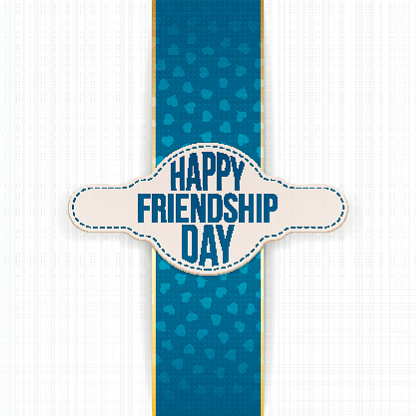 Happy Friendship Day greeting Label with Text