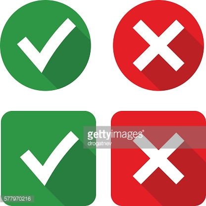 Green Checkmark OK and Red X Icons, stock photos ... X And Check Icon