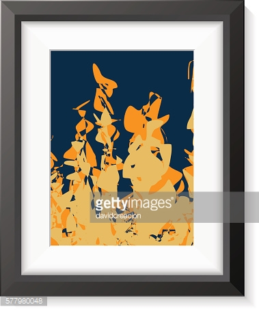 Black Frame with Abstract Art Scene for Presentations.