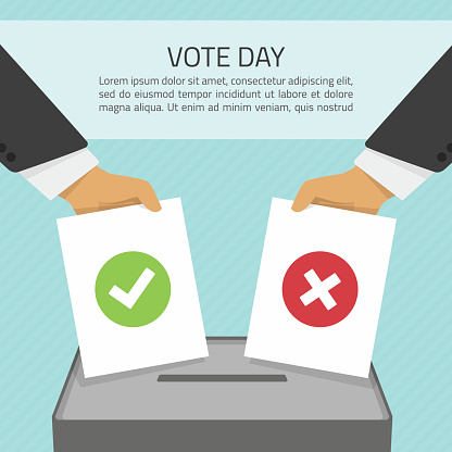 Vector illustration vote day