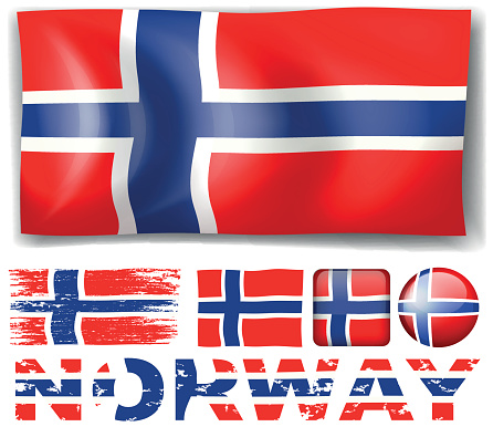 Norway flag in different designs