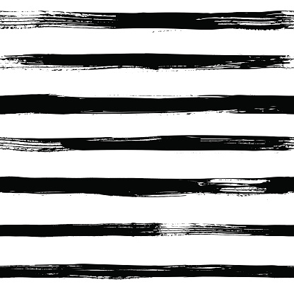 Abstract vector seamless pattern with black and white striped