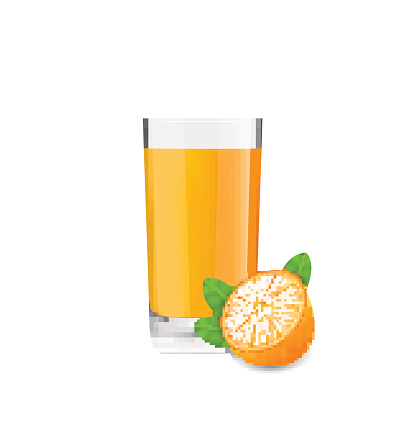 Orange Cool Cocktail and Half of Fruit
