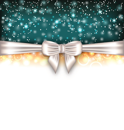 Glowing Luxury Background with Bow Ribbon