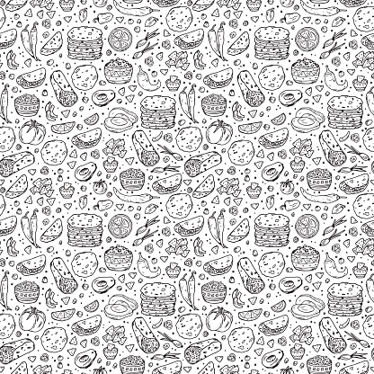 Mexican tradition Food Vector Seamless pattern