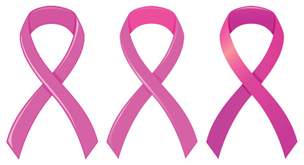 Pink ribbon as medical symbol