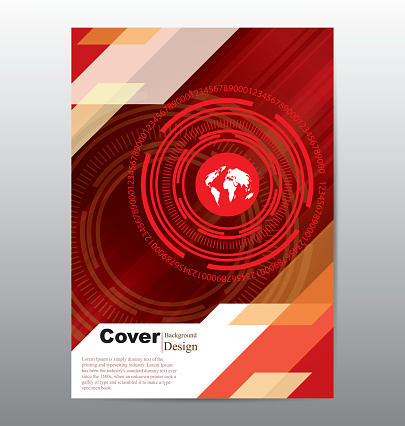Book Cover with Technology Template