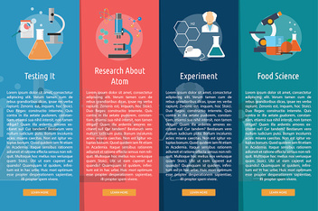 Science and Research Vertical Banner Concept