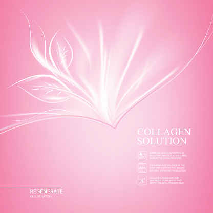 Pink background with scin care design.