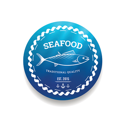 Fresh seafood label