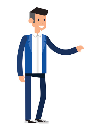 Vector detailed character office worker