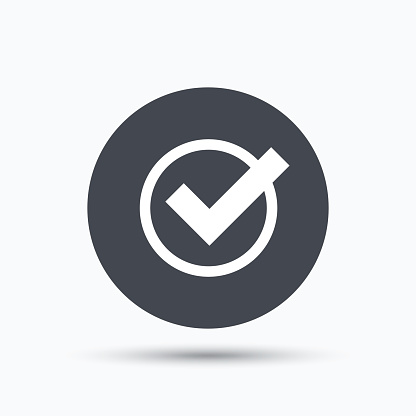 Tick icon. Check or confirm sign.