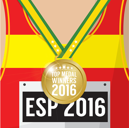 Top Medal Winner 2016 Sport Competition Concept.