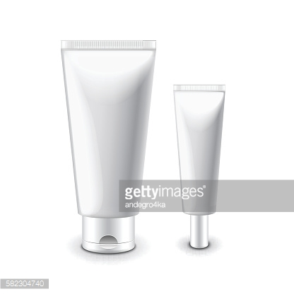 White cosmetic tubes for cream isolated vector