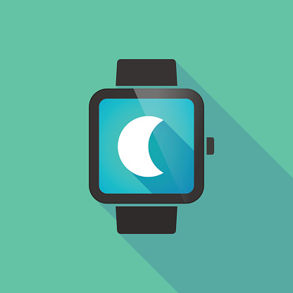 Smart watch with a moon