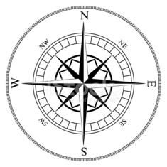 Compass winds rose