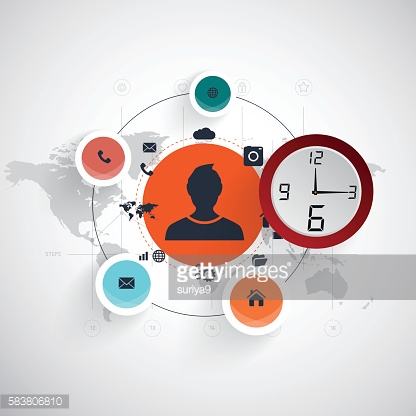 Time usiness  vector illustration concept.