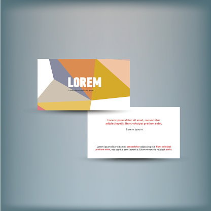 Template for advertising and corporate identity.