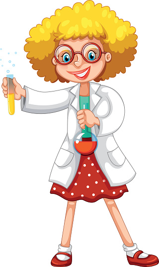 Scientist with test tubes