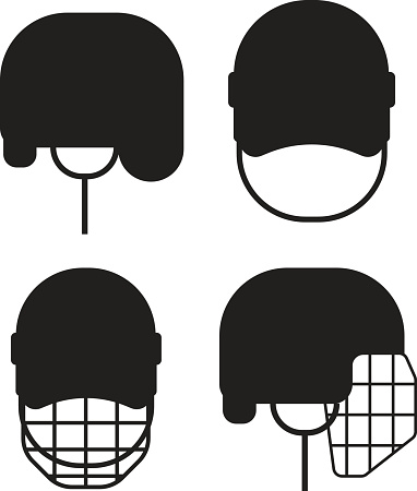 Hockey helmet vector illustration.