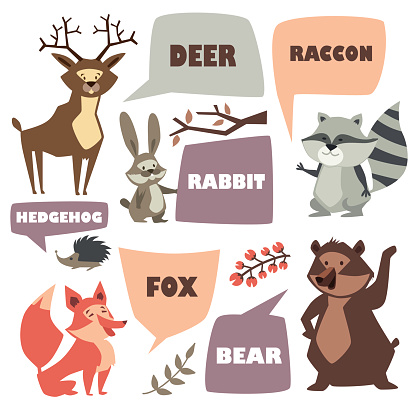 Forest animals. space for text