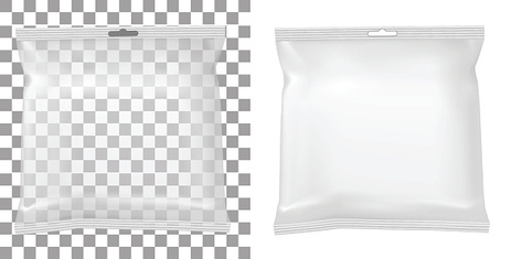 Transparent packaging for snacks, food, chips, sugar and spices.