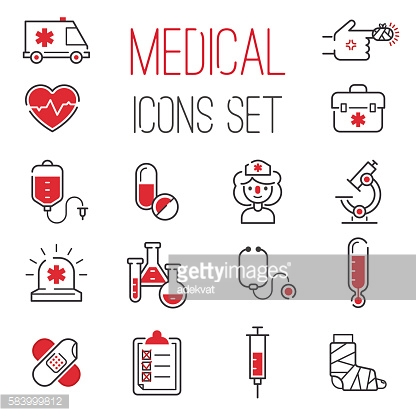 Medical icons vector set.