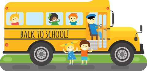 School bus vector isolated