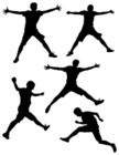 Silhouette,Jumping,People,F...
