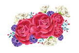 Colorful Bouquet,hand-drawi...