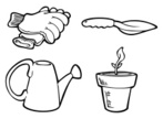 Watering Can,Line Art,Flowe...