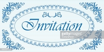 Decorative oval frame and background for invitation.