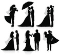 Bride,Bridegroom,Silhouette...