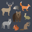 Forest Animals,Square,No Pe...