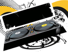 Turntable,Disco,Banner,Nigh...